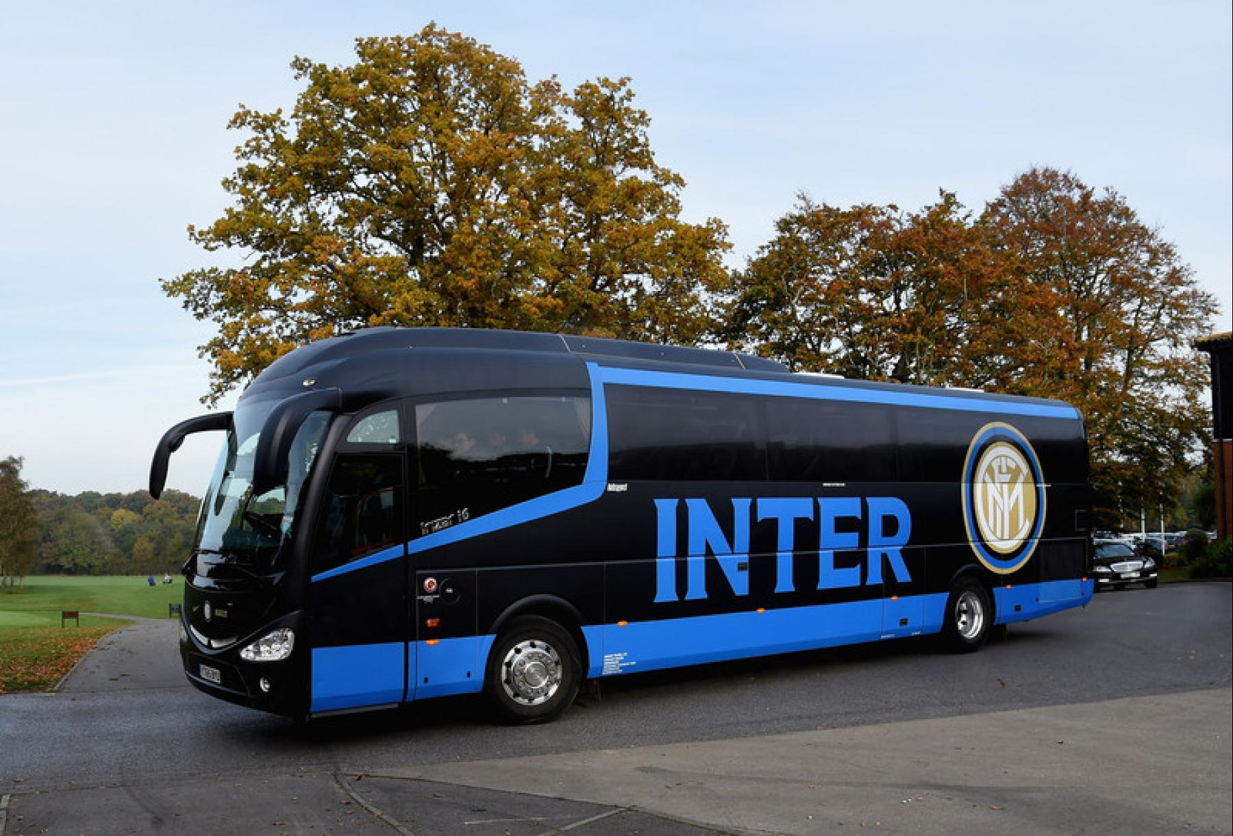 Full Colour Printed Wrap For Inter Milan S Team Bus Sign Uk